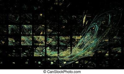 Green Black Lattice Background, Seamless Loop Animated...