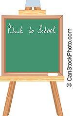 Green blackboard. Back to school