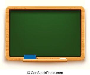 green blackboard on white