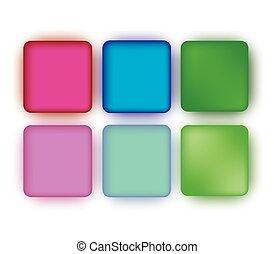Green Blank Button Set