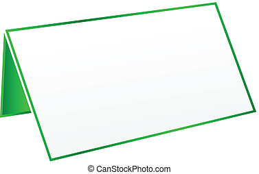 Green Blank Table Tag