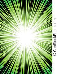 Green blast rays