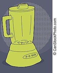Green Blender Illustration