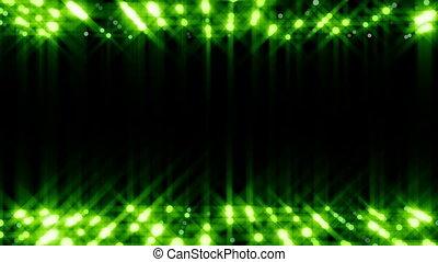 green blinking lights background loop