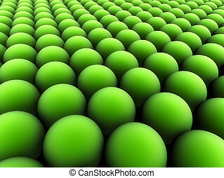 green blobs - 3d rendered illustration of many abstract...
