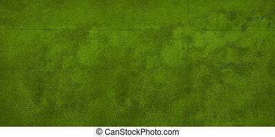 Green block wall