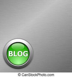 green blog button