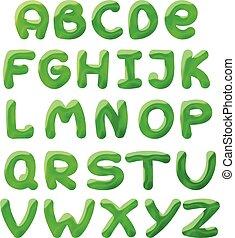 green blots alphabet