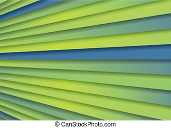 Green blue abstract corporate stripes background