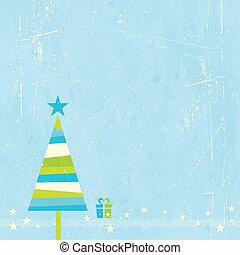 Christmas tree with present