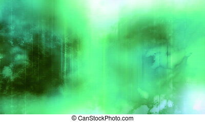 Green blue and white abstract grunge lined up texture loop