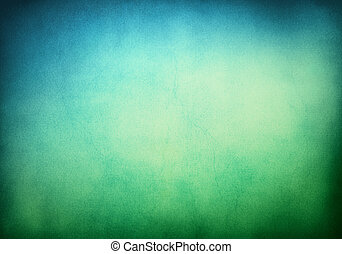 A textured grunge background with a green to blue gradient. Image displays significant paper grain and texture when viewed at 100 percent.