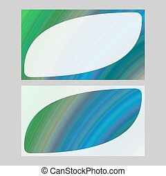 Green blue business card template design set