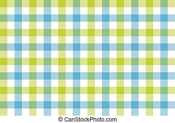 Green blue check fabric texture background seamless pattern
