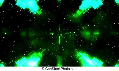 Green blue cosmic geometric