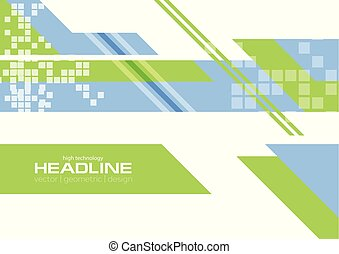 Green blue flat minimal technology background