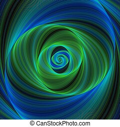 Green blue infinity - spiral fractal background