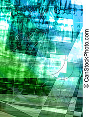 Green-blue mottled background cover - Abstract background of...
