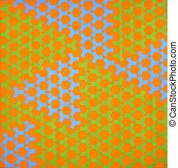 green blue orange background