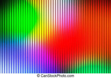 Green blue orange red abstract with light lines blurred background