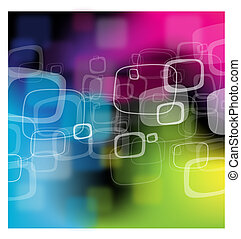 Green, blue, pink abstract background