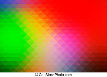 Green blue red rows of triangles background
