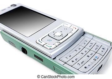 Green-blue smartphone