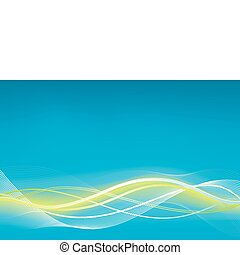 Green blue wave vector background
