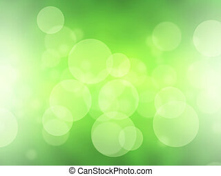 Green blurred abstract light bokeh background