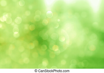 Green blurred background and sunlight - Green blurred fresh...