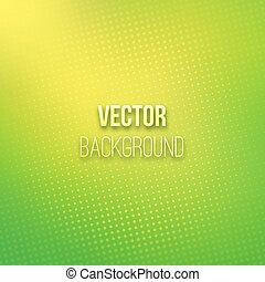 Green Blurred Background With Halftone Effect