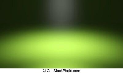 Green blurred spotlight, dark abstract background
