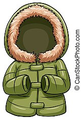 Green body warmer on a white background