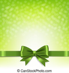Green Bokeh Background With Bow