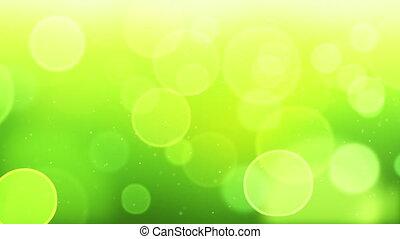 green bokeh circles loop background