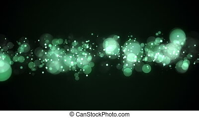 green bokeh lights abstract loopable background