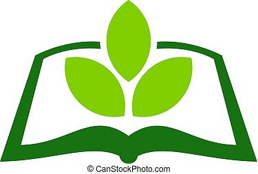 Green Book Logo Icon Design