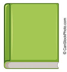 Green book on white background