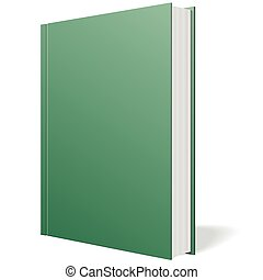 Green book standing vector on white