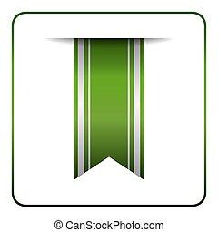 Green bookmark tag label