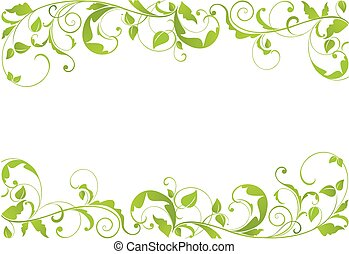 green floral border design 1 stock illustrationby misslina30880470 green border