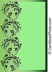 Green border with floral ornaments