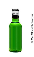 green bottle isolated on a white background
