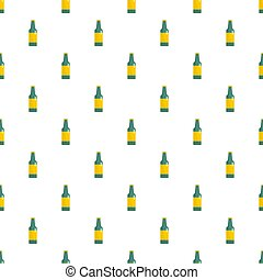 Green bottle of beer pattern seamless