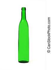green bottle on white background