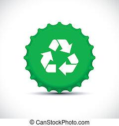 Green bottle top