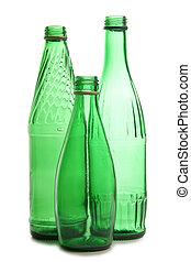 Green bottles for vine