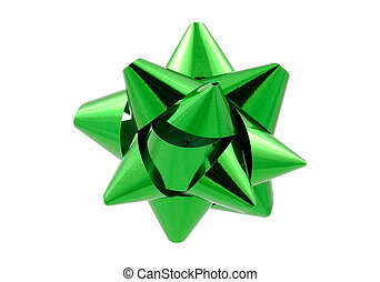 Green Bow - Clipping Path
