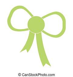 Green bow icon