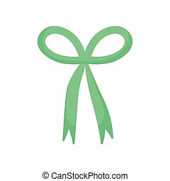 green bow ribbon decoration icon